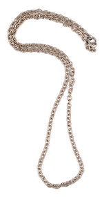 """*TRUNK SHOW* Sylva & Cie. 14K White Gold Link Chain Necklace, 23"""""""