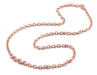*TRUNK SHOW* Sylva & Cie. 14K Rose Gold Graduated Section Chain Necklace