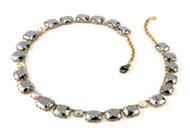 "*TRUNK SHOW* Sylva & Cie. 18K Yellow Gold Silver Calcite and Rough Cut Diamond Necklace, 18"""