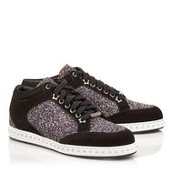 Jimmy Choo Miami Black/Silver Twilight Glitter Sneaker