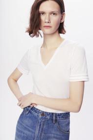 Victoria Beckham Lightweight Slim Fit V-Neck T-Shirt