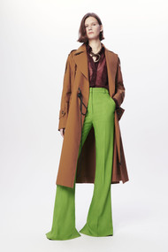 Victoria Beckham Patch Pocket Trench Coat in Tobacco