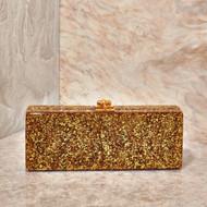 *PRE-ORDER* Edie Parker Flavia Clutch in Gold Confetti