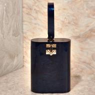*PRE-ORDER* Edie Parker Oval Bag in Sapphire