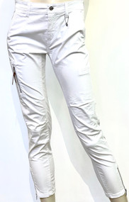 MAC Rich Cargo Cotton Pants in White