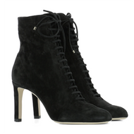 Jimmy Choo Daize Black Suede Lace Up Bootie