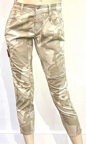 MAC Rich Cargo Cotton Pants in Light Pearl White