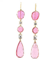 *TRUNK SHOW* Sylva & Cie. 18K Yellow Gold Tourmaline Drop Earrings