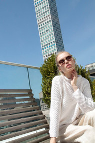 *PRE-ORDER* Hania Greta Sweater in White