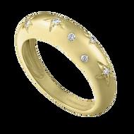 Eden Presley 14K Yellow Gold Small Celeste Diamond Ring, Size 7