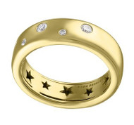 Eden Presley 14K Yellow Gold Small Basic Bubble Stack Diamond Ring, Size 7