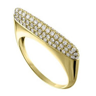 Eden Presley 14K Yellow Gold Small Basic Eden Pave Stack Diamond Ring, Size 7