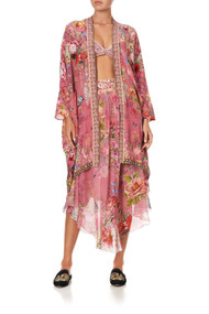 Camilla High Low Hem Casual Jacket in Patchwork Heart