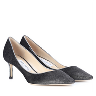 Jimmy Choo Romy Anthracite Velvet Pump