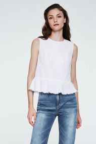 Dorothee Schumacher High Summer Ease Top in Pure White