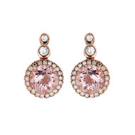 *COMING SOON* Selim Mouzannar Beirut Earrings in 18K Pink Gold Set with Diamonds and Morganite