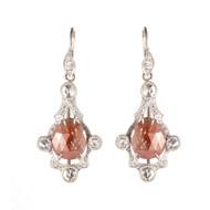 *TRUNK SHOW* Sylva & Cie. Platinum Rough Cut Chandelier Earrings
