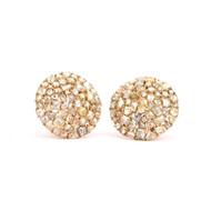 *TRUNK SHOW* Sylva & Cie. 18K Yellow Gold Diamond Button Earrings