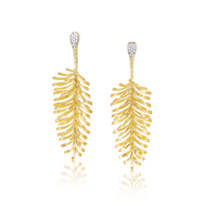*POP UP EVENT* Luisa Rosas 18K Yellow Gold Small Skin Aurea Drop Earrings with Diamonds