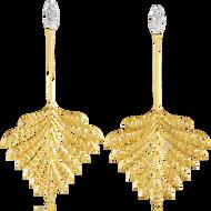 *POP UP EVENT* Luisa Rosas 18K Yellow Gold Luz Drop Earrings with Diamonds