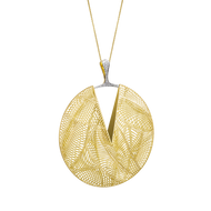 *POP UP EVENT* Luisa Rosas 18K Yellow Gold Large Tribe Circle Pendant Necklace