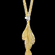 *POP UP EVENT* Luisa Rosas 18K Yellow Gold Luz 3 Feather Pendant Necklace