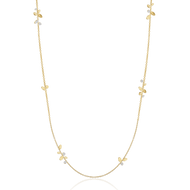 *POP UP EVENT* Luisa Rosas 18K Yellow Gold Be Station Necklace with Diamonds