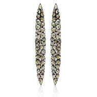 *POP UP EVENT* Sutra 18K Blackened Gold Mosaic Brown Diamond Earrings