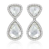 *POP UP EVENT* Sutra 18K White Gold Rose Cut Diamond Earrings