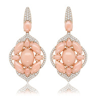 *POP UP EVENT* Sutra 18K Rose Gold Pink Opal and Diamond Earrings