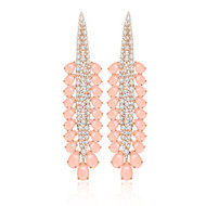 *POP UP EVENT* Sutra 18K Rose Gold Pink Opal and Diamond Scintilla Earrings