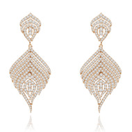 *POP UP EVENT* Sutra 18K Rose Gold Feather Diamond Earrings