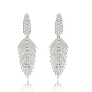 *POP UP EVENT* Sutra 18K White Gold Feather Diamond Earrings