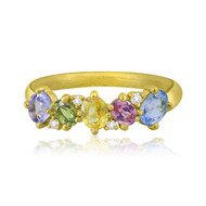 *POP UP EVENT* Sutra 18K Yellow Gold Multi Sapphire and Diamond Ring