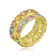 *POP UP EVENT* Sutra 18K Yellow Gold Large Multi Sapphire and Diamond Ring