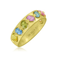 *POP UP EVENT* Sutra 18K Yellow Gold Multi Sapphire Ring