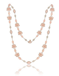 *POP UP EVENT* Sutra 18K Rose Gold Pink Opal and Diamond Necklace