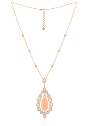 *POP UP EVENT* Sutra 18K Rose Gold Pink Opal and Diamond Chain Necklace