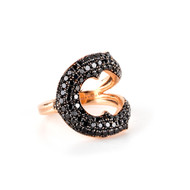 *TRUNK SHOW* Sylva & Cie. 14K Rose Gold Horseshoe Ring, Size 7