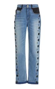 Hellessy Tucker Crystal Embellished Boyfriend Jeans