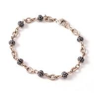 *TRUNK SHOW* Sylva & Cie. 18K White Gold and Sterling Silver Diamond Bead Bracelet