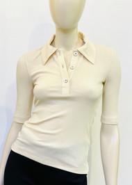 Rosetta Getty Polo T-Shirt in Natural
