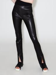 Rosetta Getty Skinny Split Cuff Leather Pants