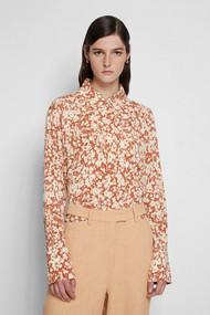 Jonathan Simkhai Edith Textured Shirt in Sienna