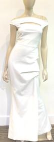 Chiara Boni La Petite Robe Melania Gown in White (Size 40)
