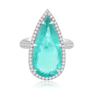 *POP UP EVENT* Sutra 18K White Gold African Paraiba Diamond Ring