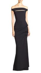 Chiara Boni La Petite Robe Melania Gown in Black (Size 42/44/46)