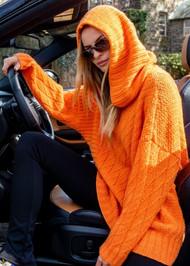 *PRE-ORDER* Augustina Cashmere Siegfried Hooded Sweater in Orange