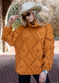 *PRE-ORDER* Augustina Cashmere Susak Turtleneck in Orange