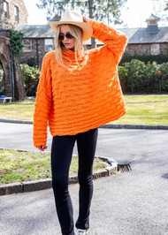 *PRE-ORDER* Augustina Cashmere Shar Pei Sweater in Orange